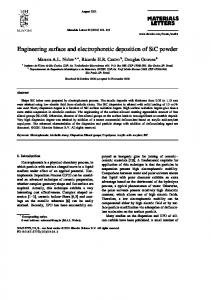 Engineering surface and electrophoretic deposition of ...