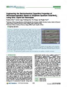 Engineering the Electrochemical Capacitive ... - ACS Publications