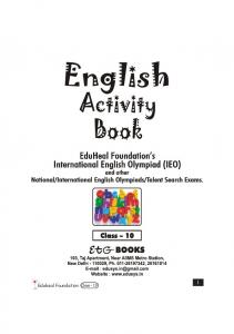ENGLISH Activity Book Class 10