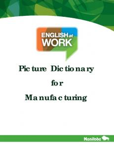 English at Work Picture Dictionary for Manufacturing