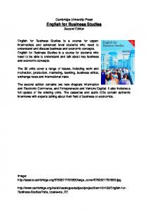 English for Business Business Studies