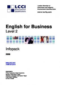 English for Business - LCCI