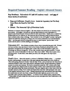 English I AH summer reading requirements - Maryville City Schools