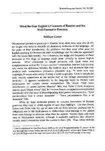 English L2 Learners of Russian and the Null ... - KU ScholarWorks