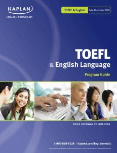English Language - Kaplan Test Prep