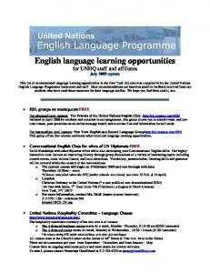 English language learning opportunities