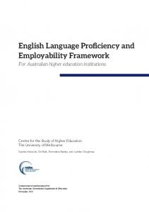 English Language Proficiency and Employability ... - Melbourne CSHE