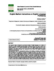 English Medium Instructions on English Language Proficiency