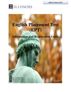 English Placement Test (EPT)