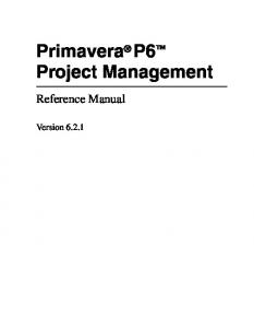 English Project Management Reference Manual