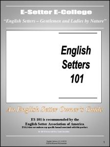 """English Setters – Gentlemen and Ladies by Nature"""