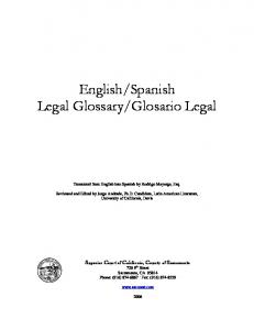 English Spanish Legal Glossary Cover2