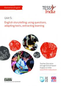 English storytelling: using questions, adapting texts, extracting ...