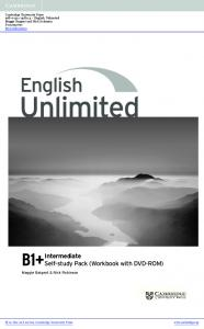 English Unlimited Intermediate Self Study Pack Workbook With DVD ...
