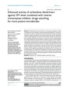 enhanced activity of carbosilane dendrimers against