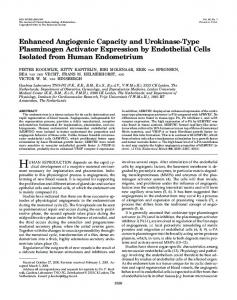 Enhanced Angiogenic Capacity and Urokinase ... - Semantic Scholar