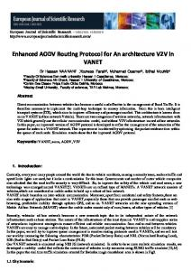 Enhanced AODV Routing Protocol for An architecture ...