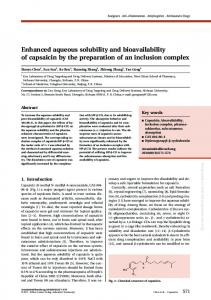 Enhanced aqueous solubility and bioavailability of ...