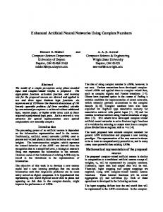 Enhanced Artificial Neural Networks Using Complex Numbers