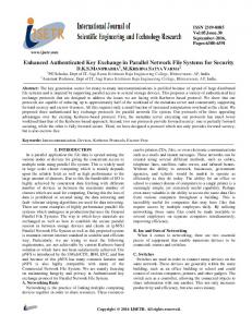 Enhanced Authenticated Key Exchange in Parallel Network ... - ijsetr.