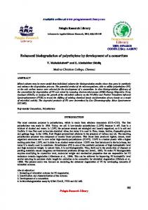 Enhanced biodegradation of polyethylene by development ... - iMedPub
