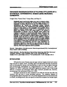 ENHANCED BIODEGRADATION OF PULPING EFFLUENTS BY A ...