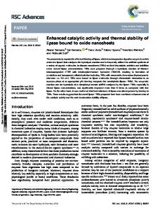 Enhanced catalytic activity and thermal stability of ...