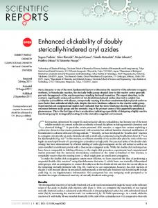 Enhanced clickability of doubly sterically-hindered ... - Semantic Scholar