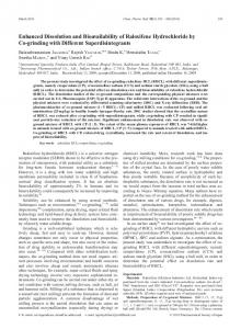 Enhanced Dissolution and Bioavailability of Raloxifene Hydrochloride ...
