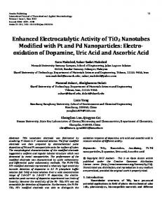 Enhanced Electrocatalytic Activity of TiO2 Nanotubes Modified with Pt
