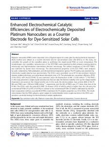 Enhanced Electrochemical Catalytic Efficiencies of