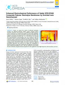Enhanced Electrochemical Performance of Stable ... - ACS Publications