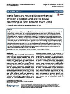 enhanced emotion detection and altered neural processing as faces ...