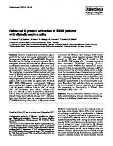 Enhanced G protein activation in IDDM patients with ... - Springer Link