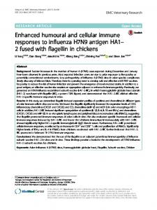 Enhanced humoural and cellular immune