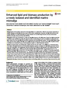 Enhanced lipid and biomass production by a newly isolated ... - Core
