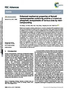 Enhanced mechanical properties of Nylon6