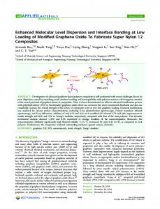Enhanced Molecular Level Dispersion and ... - ACS Publications