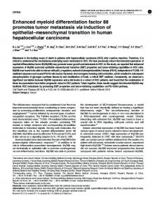 Enhanced myeloid differentiation factor 88 promotes ... - BioMedSearch