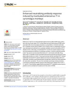 Enhanced neutralizing antibody response induced by ... - Plos