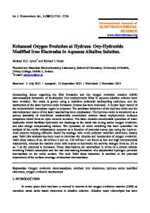 Enhanced Oxygen Evolution at Hydrous Oxy-Hydroxide Modified Iron ...