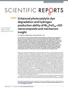 Enhanced photocatalytic dye degradation and