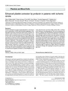 Enhanced platelet activation by prolactin in patients with ischemic stroke