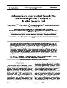 Enhanced pore-water nutrient fluxes by the upside-down jellyfish ...