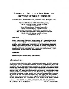 enhanced protocol for wireless content-centric network - AIRCC