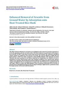 Enhanced Removal of Arsenite from Ground Water by Adsorption onto ...
