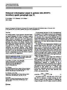Enhanced reticulospinal output in patients with (REEP1) - Springer Link