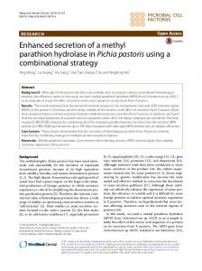Enhanced secretion of a methyl parathion ... - Microbial Cell Factories