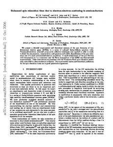 Enhanced spin relaxation time due to electron-electron scattering in ...