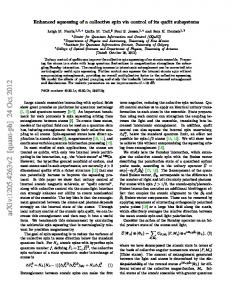 Enhanced squeezing of a collective spin via control of its qudit ...